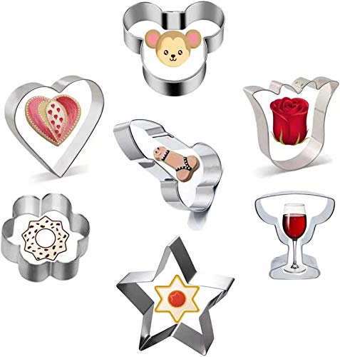 Cookie Cutters for Family,Couples and Friends to Make a Romantic Atmosphere,DIY Stainless Steel Baking Mould Kitchen Gadgets