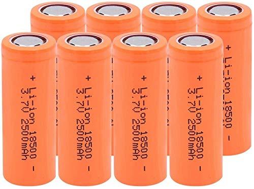 Batería De Iones De Litio De 3.7 V 2500 Mah 18500 De Larga Duración para Baterías De Coche De Respaldo De Banco De Energía-8 Piezas