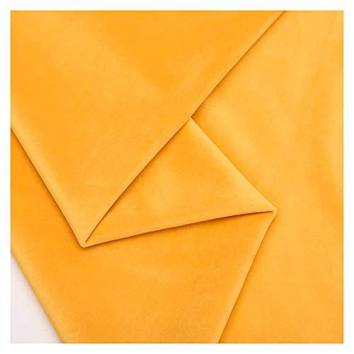 LinLiQiao Tela de Terciopelo Amarillo limón Tela de Seda de Tela Artesanal de Terciopelo prensado Naranja, Utilizada para Ropa, Cama y decoración del hogar, tamaño: 1.46M * 1M(Color:Naranja)
