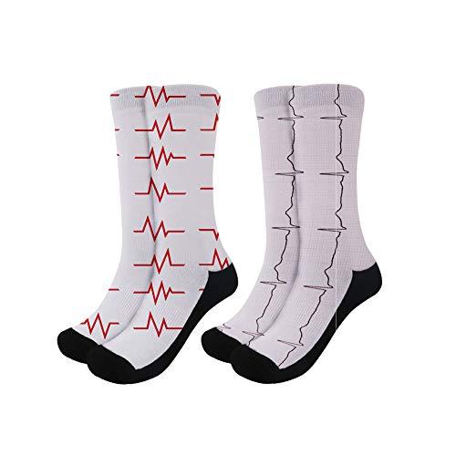 Coloranimal Damen Sneakers, leicht, Laufen, Walking, Air Mesh, flach, Tennisschuhe Gr. L-XL, Herzschlag 2 Stück-3