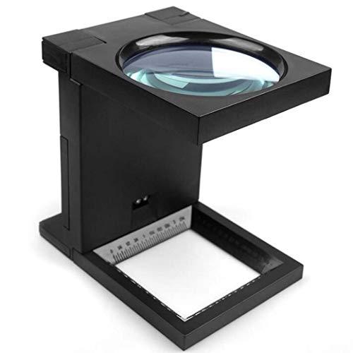 ZTYD multifunctionele lens met 2 leds, om op te hangen aan de hand, vergroot in de vorm van de hals, verticale spiegel