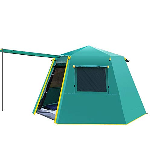 HYQW Camping Tienda Carpa Automática Hexagonal Sombra Tienda De Campaña Al Aire Libre Velocidad Abierta Automática Doble Capa 3-4 Persona Tienda