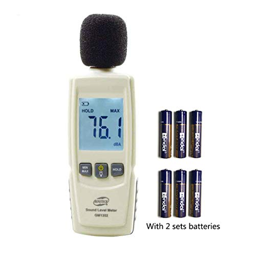 BENETECH Digital Sound Level Meter Noise Tester in Decibels LCD Screen with Backlight(Battery Included)