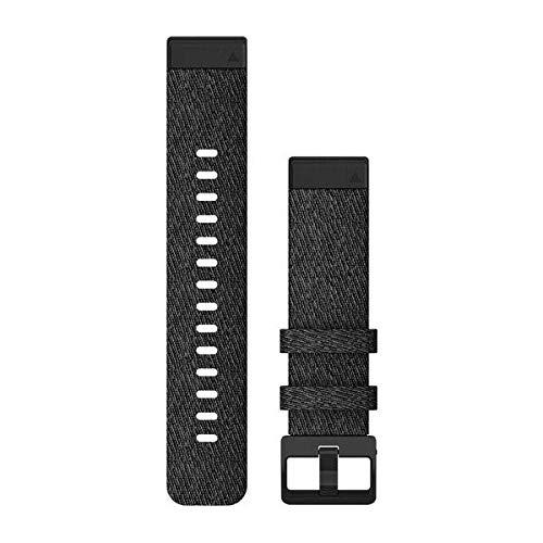 Heathered Black Nylon – Quick Fit – 20 mm – Fenix 6S/6S Pro