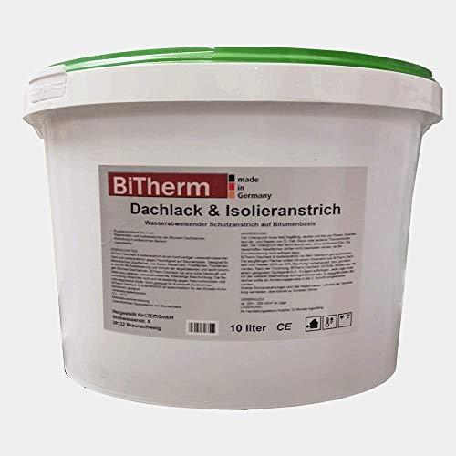 BiTherm Dachlack und Isolieranstrich Bitumen 10 L Bitumenanstrich Kellerabdichtung