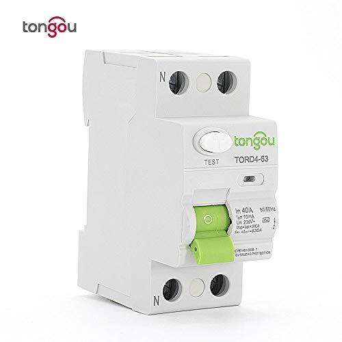 AC 2P 40A 10mA Tipo elettronico RCCB RCD 110 V 230 V Interruttore corrente residua TORD4-63-2P_40A_10mA