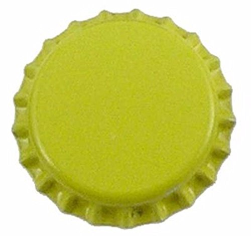 yellow beer bottle caps - 3