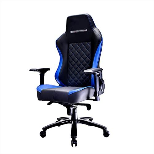 Silla de juegos, silla de oficina, silla ergonómica de ordenador de PC con respaldo alto, silla de escritorio de oficina giratoria de 360 °, reposabrazos ajustable