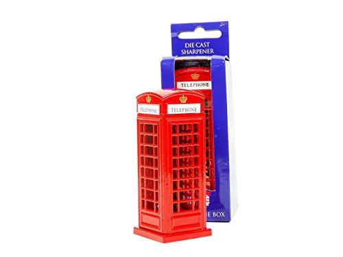 Unieke Diecast Metal London Engeland Groot-Brittannië Rode Telefoon Box / Telefoon Booth Potlood Scherper, een Echt Collectible Souvenir! Souvenir/Speicher / Memoria! Sweet, Charmante Britse Collectible Potlood Scherper Model Telefoon Box! Een opmerkelijke London Souvenir! Staartkrijt/Bleistiftspitzer/Temperamatita / Sacapuntas!