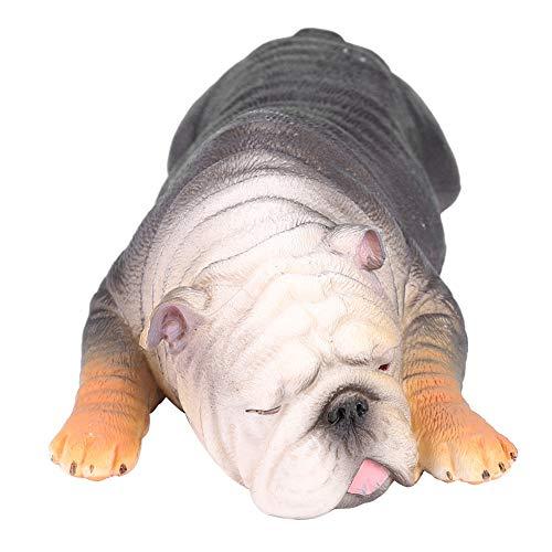Modell einer schlafenden französischen Bulldogge, Haustier, Spielzeug für Kinder 03