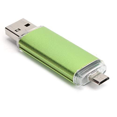 2 Plugs Mini Memoria USB 2.0 de Alta Velocidad, Flash USB Universal Portátil para Laptop y PC de Escritorio, Disco U OTG para Teléfonos, Compatible con Windows 98 / ME/XP / 2000 / Linux(4G)
