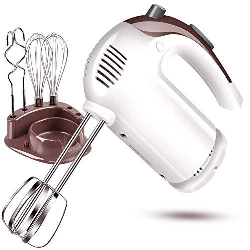 KEKE Küchenmaschine Handmixer Mit Turbostufe 300W 5 Geschwindigkeitsstufen Plus Turbofunktion 2 Helix-Rührbesen 2 Knethaken Handrührer
