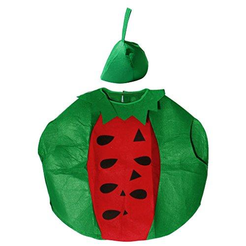 Hellery Adultos Nios Fruta Comida Disfraz Novedad Traje Trajes de Fiesta de Halloween - Sanda