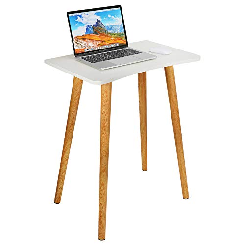 zicheng maoyi Laptop Desk, Portable Laptop Bed Table Bed Desk Home Office Tea Coffee Breakfast Serving Dining Tray Computer Laptop Lap Desk Sofa Side Nightstand Makeup End Table with White Tabletop