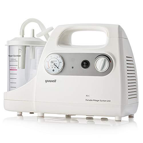 Portátil de la secreción de moco de la máquina, Unidad Dispositivo eléctrico de esputo flema Bomba de succión para viscoso líquido de absorción, Apto para Personas Mayores y niños