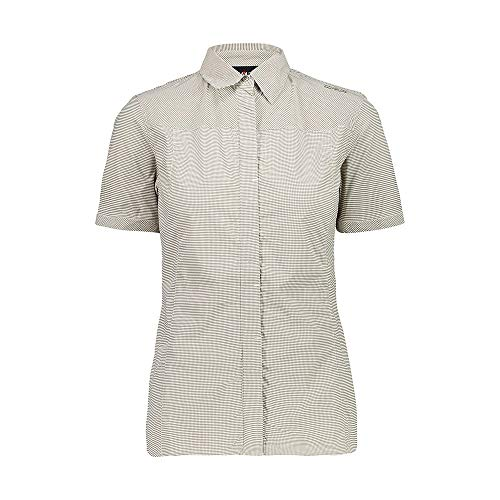 CMP Elastisches Kurzarmshirt Hemd mit Dry Function Technologie Chemise Femme, Corda-Bianco, D46