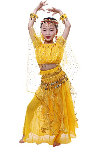 Astage Niña Traje Danza del Vientre Lentejuelas Danza India