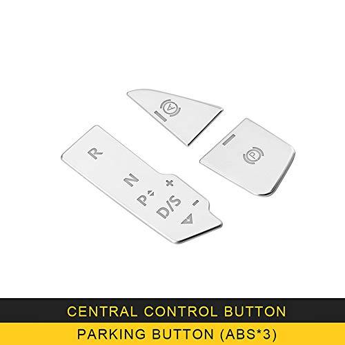 SBCX para Audi A4 S4B9 2017 2018 Auto Car Center Console Media Knob Button Frame Trim Cover Sticker Interior Accesorios