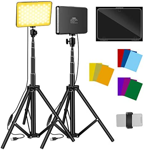 2 Packs Video Lighting Kit Sutefoto Led Light for Video Photography Starter Light Kit with Two product image