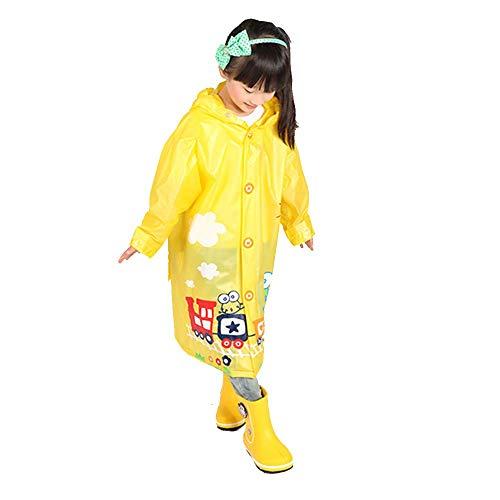 Imperméable pour enfants Guyuan avec Sac, garçon, Fille, bébé, épais, Mode, Poncho écologique (Color : Yellow, Size : XXL)