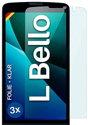 moex Klare Schutzfolie kompatibel mit LG L Bello - Bildschirmfolie kristallklar, HD Bildschirmschutz, dünne Kratzfeste Folie, 3X Stück