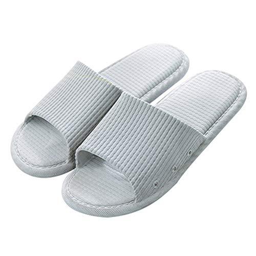 Afco Men Women Open Toe Bath Slippers Anti-Slip Home Outdoor Flat Shoes Grey 44-45