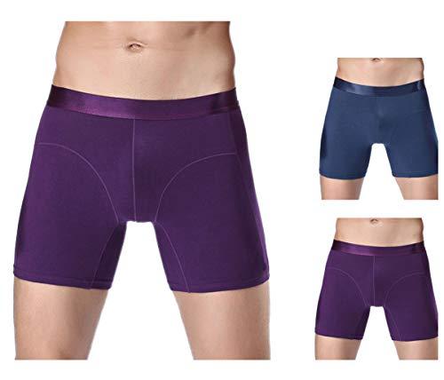 Panegy 2er Pack Männer Baumwolle Unterhose Boxershorts Sport Langes Bein Retroshorts Unterhose