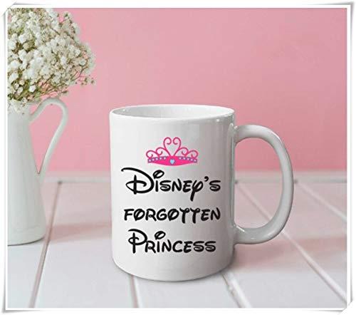 Taza de la princesa olvidada de Disney taza divertida taza linda taza de oficina regalos para ella regalos para él taza de café taza de café de cerámica de 11 oz taza de té de alto brillo