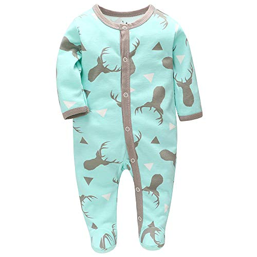 Pijama Niño Algodón, Peleles para Bebés Niña,Peleles para Dormir para Bebés 0-6 Meses (Cervo,...