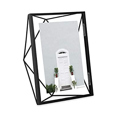 Umbra Prisma 5 x 7 Picture Frame – Floating Wall or Desk Photo Display for Pictures, Art, Illustrations, Graphic Text & More, Metal, Black