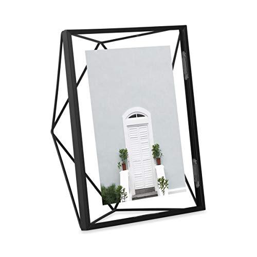UMBRA Prisma Cadre photo filaire en métal entre deux-verres Prisma, poser ou à accrocher, Pour 1 photo 13x18cm Noir