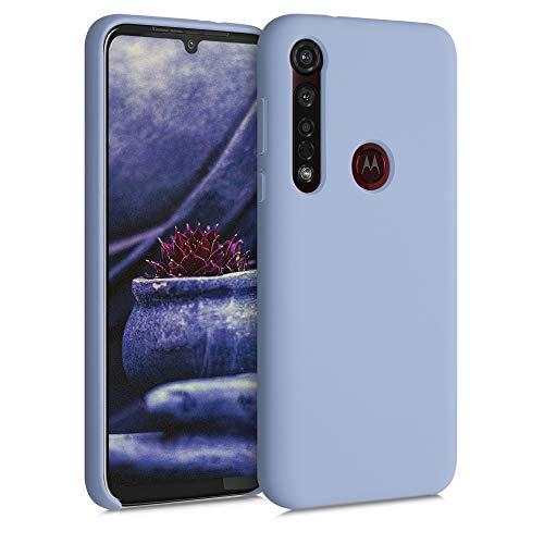 kwmobile Hülle kompatibel mit Motorola Moto G8 Plus - Hülle Silikon gummiert - Handyhülle - Handy Hülle in Hellblau matt
