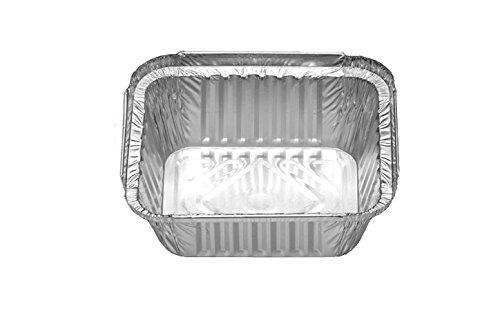 100 Aluschalen • R28L • mit Deckel • 450 ml • klein • ungeteilt • Alu-Menüschale • Lunchbox • Asietten • Leberkäseform • Alubehälter • Aluminiumschalen • Tropfschale (100 Stück)
