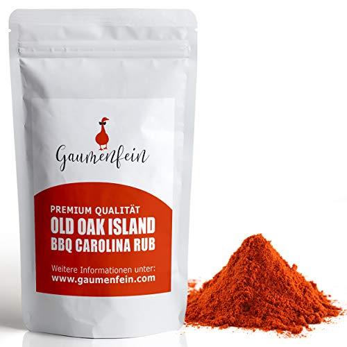 GAUMENFEIN® Old Oak Island - BBQ Carolina-Rub - Grill Gewürzmischung - 100% natürliche Premium Qualität - 250g