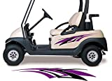 Golf Cart Decals Accessories Two Color Go Cart Stickers GCA1215