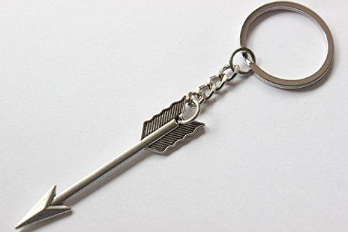 Arrow Keychain, Arrow Charm Keychain, Boho Keychain, Arrow Keyring