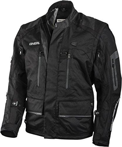 O\'NEAL | Motocross-Jacke | Enduro MX | Wasserabweisendes Außenmaterial, Protektorentaschen an Rücken, Ellenbogen und Schultern | Baja Racing Jacket | Erwachsene | Schwarz | Größe L