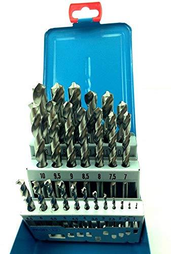 FAMAG 2410 Metallspiralbohrer HSS-G Set 25-teilig in Rose Box Ø 1-13 mm, 0,5 mm steigend - 2410.525