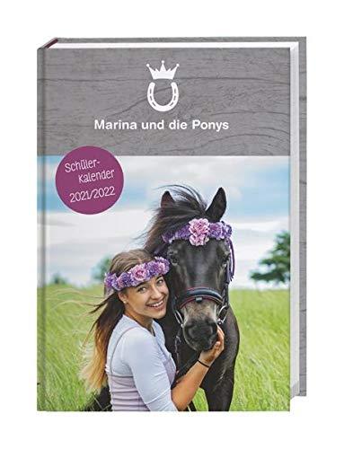 Marina und die Ponys Schülerkalender A5 2021/2022 - 17-Monate - 208 Seiten - Wochenkalender - vielen hilfreichen Infos - flexibler Einband, ... 17 Monate. Von August 2021 bis Dezember 2022