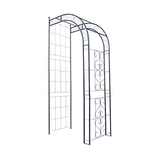 バラアーチ 鉄製ハーフアーチ・ネロ 1個 幅92.5・奥行60・高さ211 ガーデンアーチ ローズアーチ ガーデニング 国華園