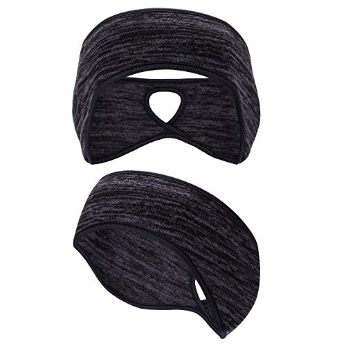 Oumers Damen Pferdeschwanz Stirnband, Ohrwärmer Ohr Wärmer Stirnband für Damen und Herren Winter Laufen Yoga Skifahren außerhalb des Sports