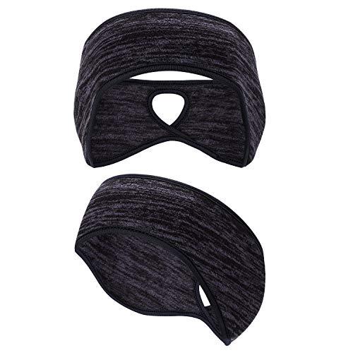 Black Ogquaton Unisex Earmuffs Wool Ski Ear Muff Thermal Insulated Ear Muffs Plush Furry Ear Covers Winter Head Band for Sports,Daily Wear