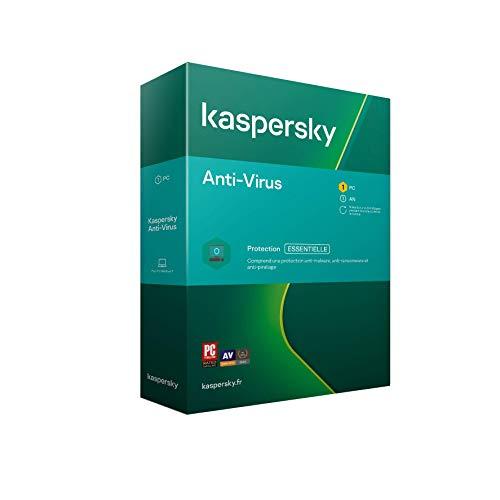 Kaspersky Antivirus 2020 (1 Poste / 1 An)|Anti-virus|1 appareil|1 An|PC|Telechargement