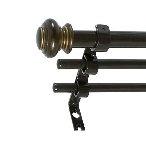Decopolitan 30590-42ORB Triple Rod Set,Oil Rubbed Bronze