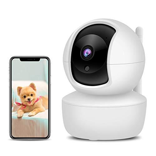 XYFANG 3MP Cámara IP WiFi,Cámara Vigilancia WiFi interior con Visión Nocturna,Detección de Movimiento,Audio de 2 Vías, 2.4GHz WiFi, Compatible con iOS/Android,para Bebés/Ancianos/Mascotas