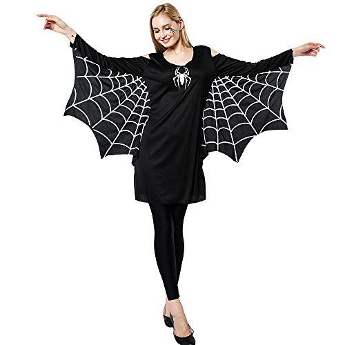 EraSpooky Disfraz de Araña para Mujer Disfraz Cosplay Fiesta de Halloween Traje Divertido para Adulto