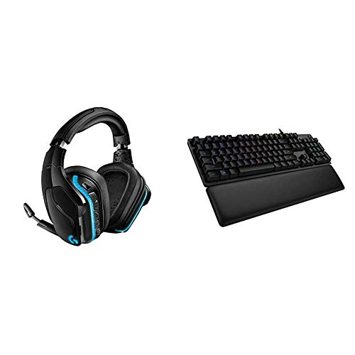 Logitech G935 kabelloses Gaming-Headset mit LIGHTSYNC RGB, 7.1 Surround Sound + Logitech G513 mechanische Gaming-Tastatur, GX-Brown Taktile Switches, RGB-Beleuchtung