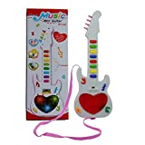 Toysale Musicale Mini Guitar Instrument with Sound & 3D Lighting Learning Toy