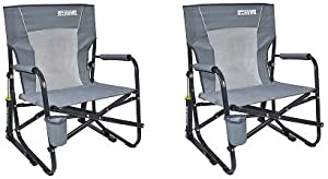 GCI Outdoor FirePit Rocker Portable Folding Low Rocking Chair (2-(Pack))
