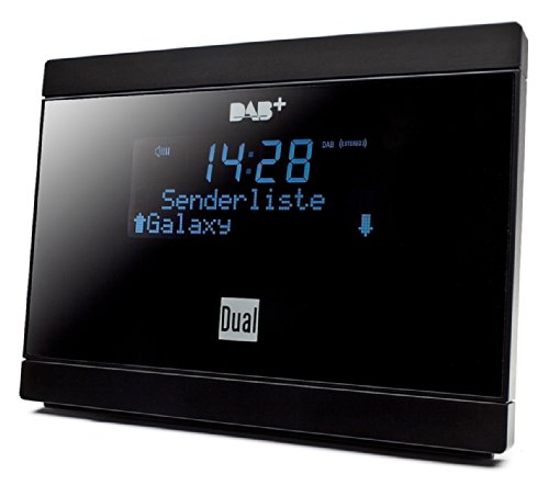 Dual DAB 2 A Digital-Radio Adapter mit Fernbedienung (LCD-Display, DAB(+)/UKW-Tuner, Alarmfunktion) Schwarz